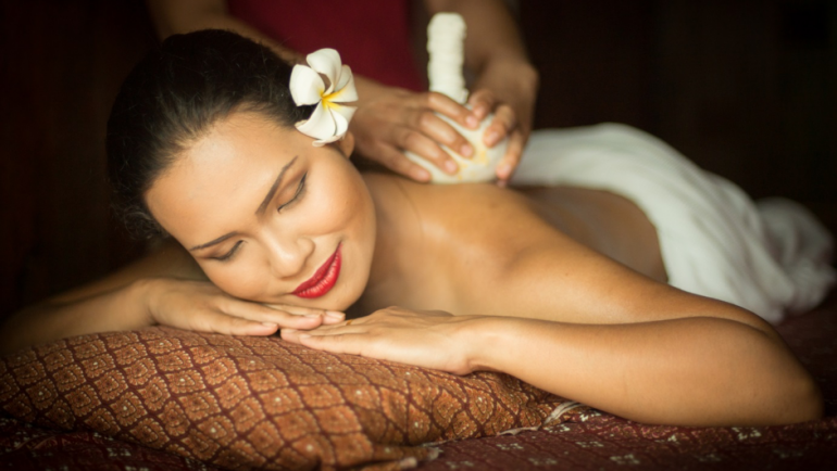 EXPERIENCE REBIRTH WITH A RELAXING HERBAL-BAG MASSAGE